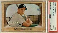 1955 Bowman Enos Slaughter Yankees Baseball Card #60 PSA Graded 2 GOOD Condition