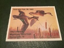 Icollectzone Us Indiana 1992 Duck Stamp Xf Mint (Bk4)