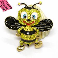 Betsey Johnson Charm Brooch Pin Gifts New Cute Royal Bee Honey Cartoon Crystal