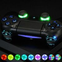 PS4 Controller LED Kit Replacement DIY Laser Cut Buttons for PlayStation 4 UK