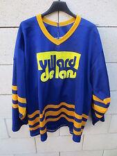 VINTAGE Maillot hockey VILLARD de LANS OURS porté n°1 ancien années 80 rare L