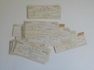 80 Antique Checks 1800s Blue Creek Adams County Indiana Paper Lot VTG Old NR IN