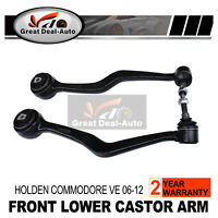 Pair For Holden Commodore VE WM Sedan Ute Wagon Front Lower Castor Arm Caprice