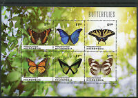 Micronesia 2014 MNH Butterflies 6v MS Butterfly Insects Monarch Goliath Birdwing