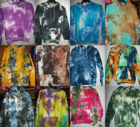 Adult Tie Dye Hoodie Sweatshirt Pull Over HOODY 10 Colors Free Shipping