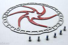 RED ASHIMA Airotor Disc DISK Brake Rotor 203mm SUPER LIGHT - Torq Lite