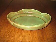 """West Coast Pottery Green Serving Bowl, ca 40's/50's, #617, Burbank, Ca., 12-1/2"""""""