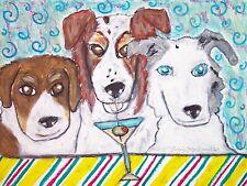 Australian Shepherd Muttley Crew Art Print 8x10 Dog Collectible by Artist Ksams