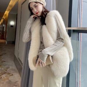 New Design Women Winter Thick Fur Gilets Real Fur Vests Luxury Waistcoat 37891