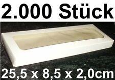 Caja Transparente embalaje de ENVÍO Plegable cartón 25x8x2