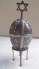 """Silver 84 Russia Egg """"Lion and Torah""""-Silber 84 Ei aus Russland """"Löwen und Tora"""""""