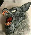 Werewolf Mask Rubber Face Gray Faux Fur Realistic~ Wolfman Halloween Costume