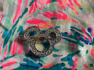 Bibbidi Bobbidi Boutique Crystal Mickey Hair Clip Barrette Disney Princess