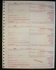 Any Yr IRS Tax Form 1099-SB single sheet set for 3 sellers, carbonless 3-part