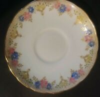FOLEY - SAUCER ONLY!!!  - GOLD TONE - WITH GOLD EDGE - EXCELLENT CONDITON