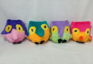 NAGANO Olympic 1998 official mascot SNOWLETS 4set Plush dolls from JAPAN USED