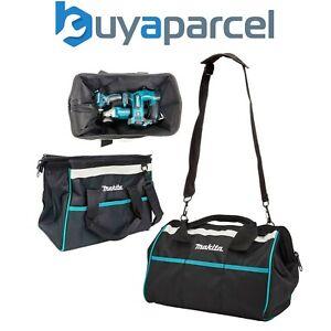 "Makita 14"" 36cm Open Mouth LXT ToolBag Tool Bag Holdall Blue + Shoulder Strap"