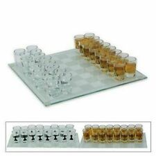 Schnaps Schach Trinkspiel mit 32 Schnapsgläser Spielbrett edel neu