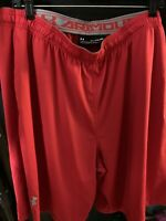 Mens Under Armour Red Athletic Shorts Size 2XL