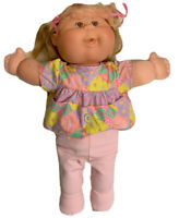 1978 2007 cabbage patch doll Pink Clothes Long Hair Artworks Blonde Brown Eyes