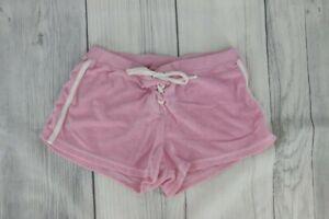 LEI Vintage 90s Mini Shorts with White Stripe Down Side Size Medium Light Pink