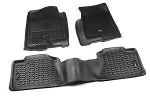 Floor Liner Mat Kit Black for Chevy GMC Full Size Pickup SUV 1999-2006 82989.02