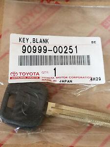 Toyota Master Key Blank 12-14 Camry 07-08 FJ Cruiser 05-12 Tacoma 90999-00251