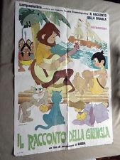 """LOCANDINA CINEMA """"Il Racconto Della Giungla"""" Sampaolofilm 1982"""
