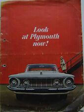 Plymouth Fury Belvedere Savoy 1962 Original USA large format Brochure