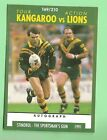1991 KANGAROOS V LIONS RUGBY LEAGUE CARD #169, ATTACKING