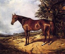 Dream-art oil painting arthur-fitzwilliam-tait-thoroughbred red horse landscape