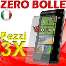 3 PZ PELLICOLA PROTEGGI SALVA SCHERMO LCD PER HTC HD7 HD 7