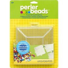 Perler Fun Fusion Bead Clear Pegboards Large Square 22666
