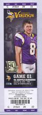 Minnesota Vikings Seattle Seahawks 8/28/10 Full Unused Ticket...Ryan Longwell