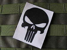 SNAKE PATCH - PUNISHER - fond BLANC --- Airsoft US ARMY special forces SEAL TAP