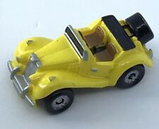 Micro Machine Vehicle Car MG TF 1954 Roadster Convertible T Series Galoob Yellow