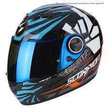 Scorpion EXO-490 Rok Bagoros Casque de Moto Intégral Touring - Noir Bleu Orange