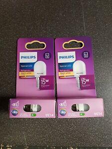 Lot de deux Ampoules  frigo LED flamme Philips  150 lm - 2700 K - E14