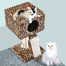 Deluxe Cat Tree Condo Furniture Play Toy Kitten Pet House Leopard Bed
