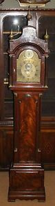 LONGCASE GRANDFATHER CLOCK - CHARLES HOWSE LONDON - MAHOGANY - 18TH CENTURY