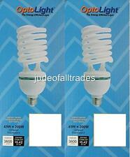 """2 Big 9"""" Compact Fluorescent Light Bulbs CFL Grow 45w=200w 3600 Lumens 2700k E26"""
