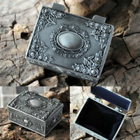 Gothic Vintage Ring Necklace Studs Jewelry Trinket Display Storage Box Case