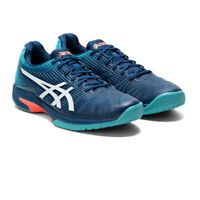 Asics Mens Solution Speed FF Tennis Shoes Blue Sports Breathable Lightweight