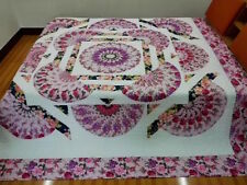 New King   size  machine pieced and quilted  Patchwork quilt / #NJ-84K