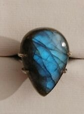 Amazing 925 Silver Genuine Labradorite Ring