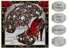 Guns N Roses Shoes & Parasol 8x8 Quick Topper by Anne Lever