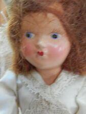 """Vintage Miniature """"Bride"""" Doll-Hard Plastic- 1940's- 7 1/2"""""""
