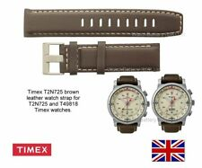 Genuine Timex IQ series T2P287, T2N725 and T49818 Brown Leather Watch Strap Band