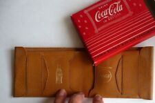 Drink Coca Cola  In Bottles, Pigskin Folding Wallet, MINT in Box. Never used