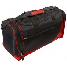 Sports Gym Bag Black Red Medium Double Handle & Strap